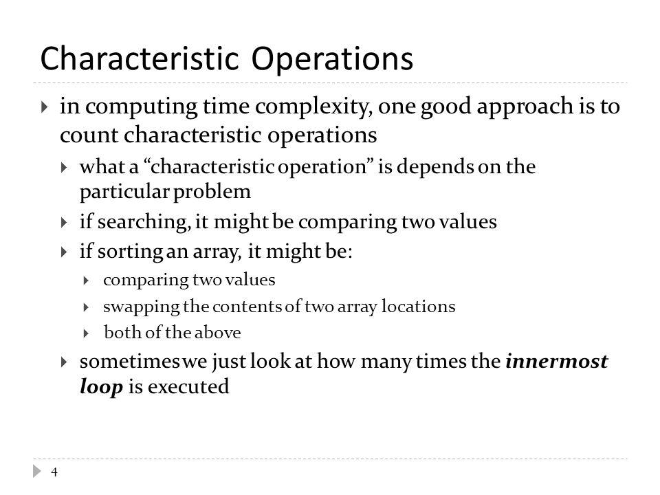 Characteristic Operations
