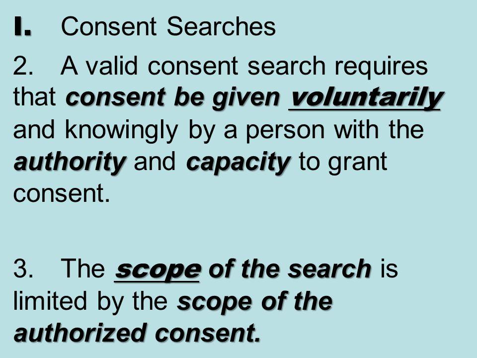 I. Consent Searches