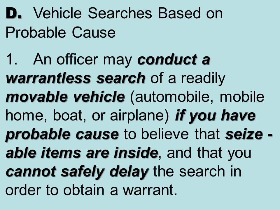 warrantless search seizure Rules of court: search and seizure — crr 23 crrlj 23 alcoholic beverage control, search and seizure: chapter 6632 rcw controlled substances.