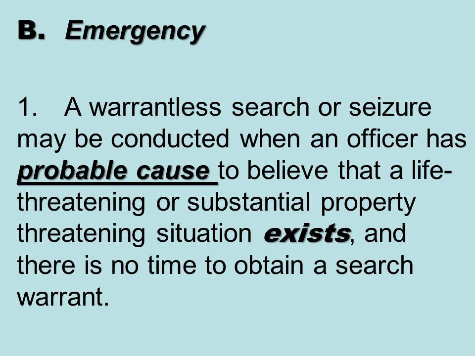 B. Emergency 1.