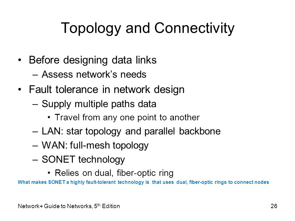 Topology and Connectivity