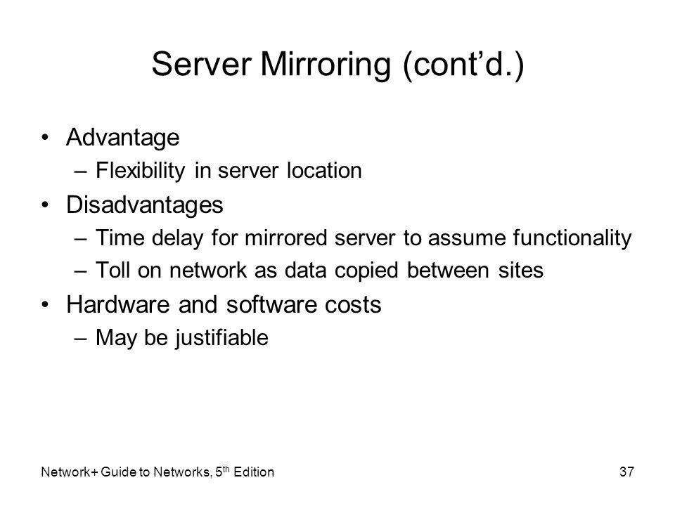 Server Mirroring (cont'd.)