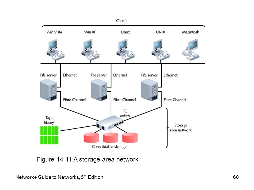 Figure 14-11 A storage area network