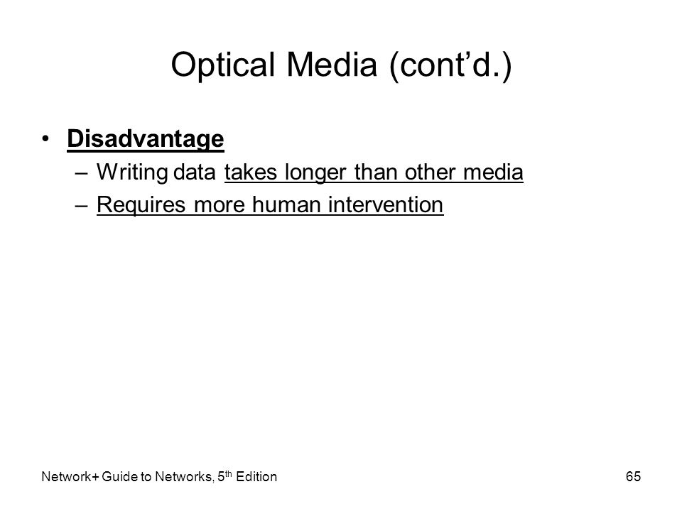 Optical Media (cont'd.)