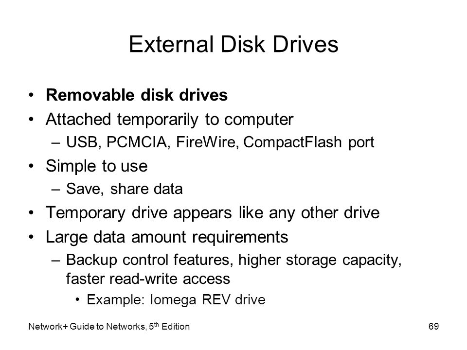 External Disk Drives Removable disk drives
