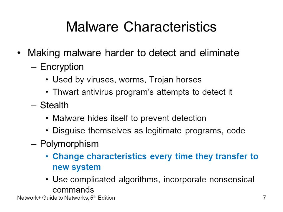 Malware Characteristics