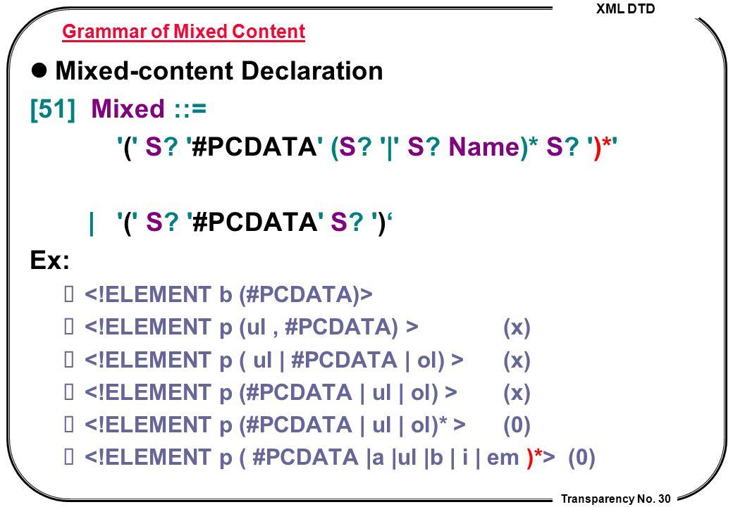 Grammar of Mixed Content