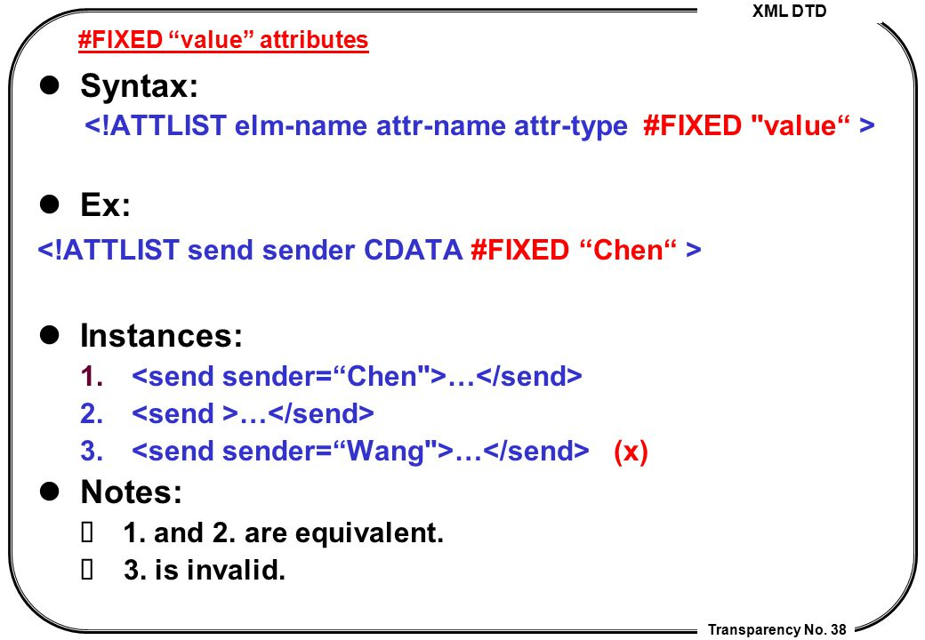 #FIXED value attributes