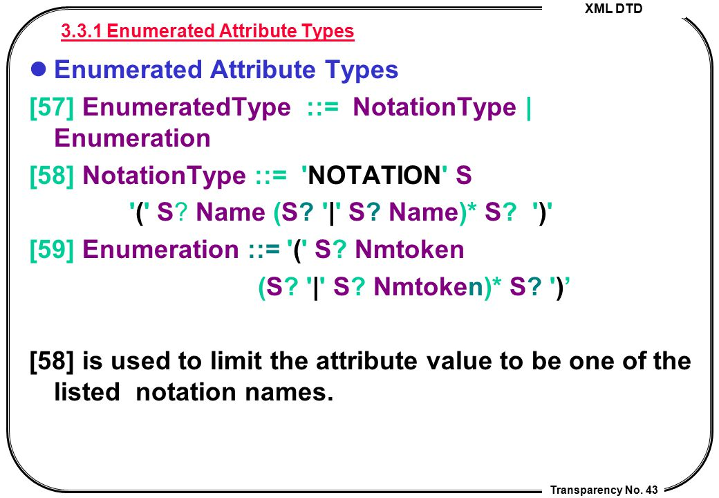 3.3.1 Enumerated Attribute Types