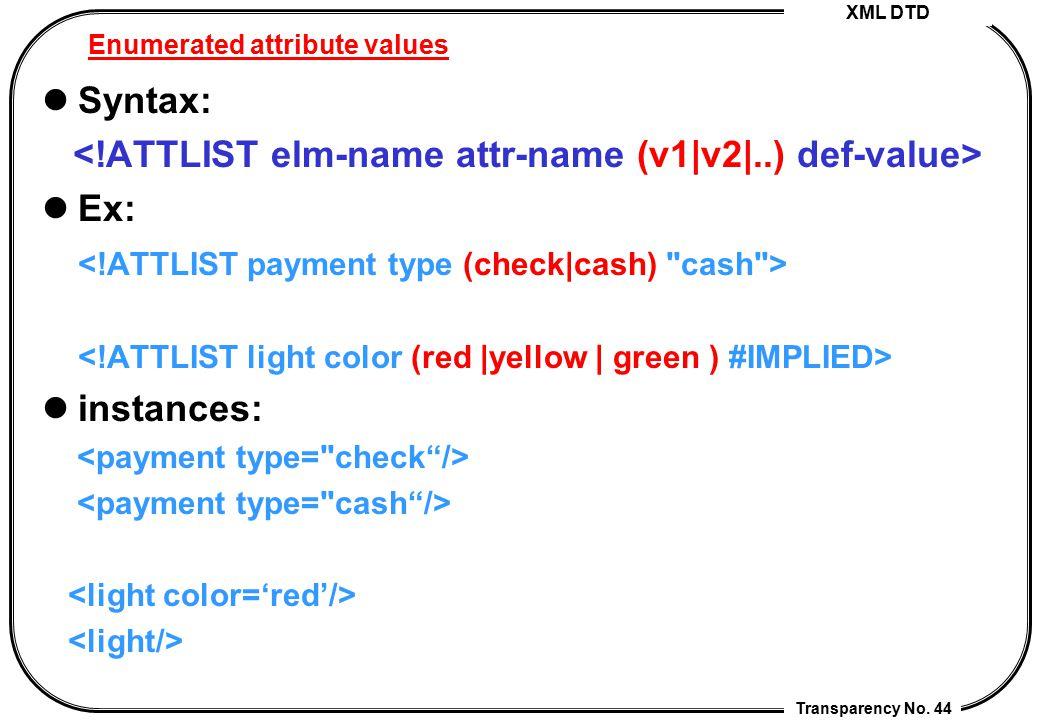 Enumerated attribute values