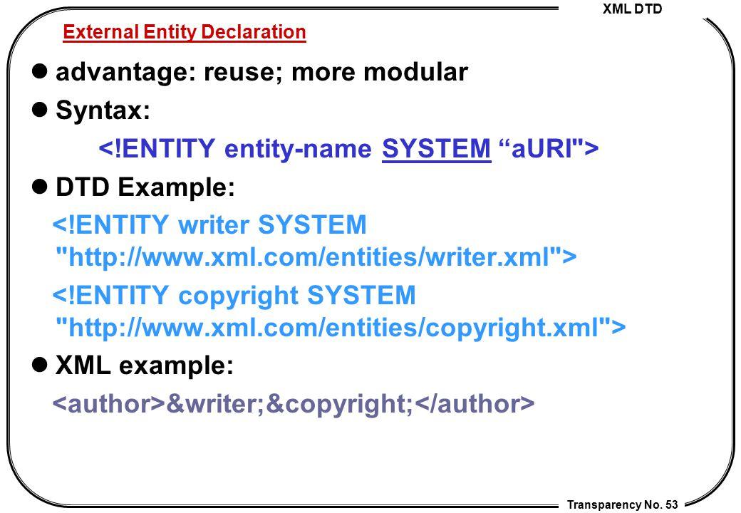 External Entity Declaration