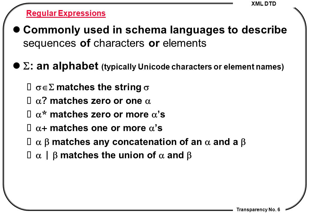 : an alphabet (typically Unicode characters or element names)