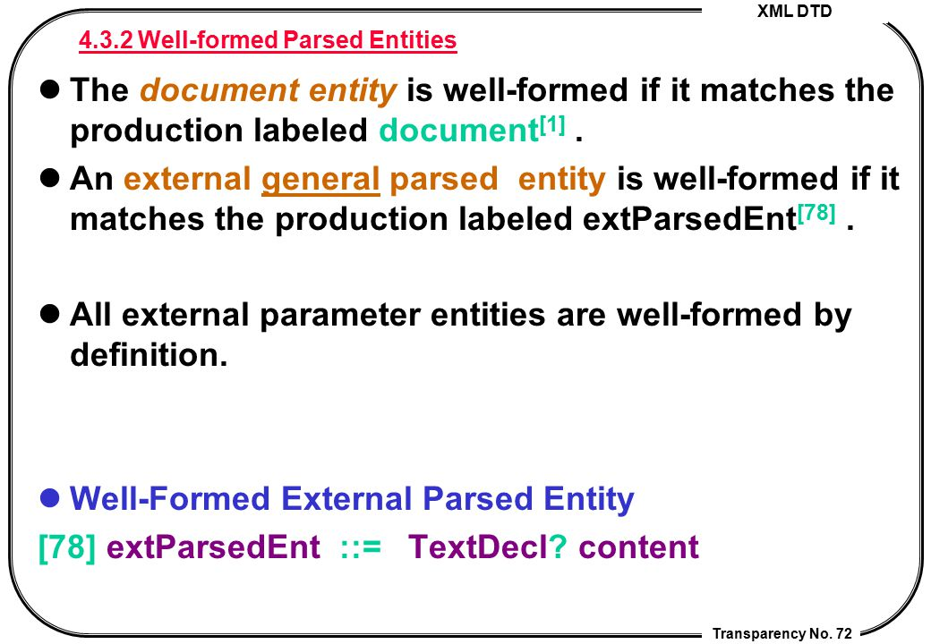 4.3.2 Well-formed Parsed Entities