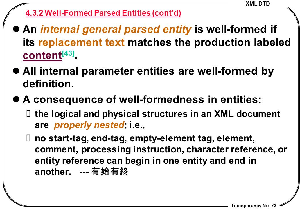 4.3.2 Well-Formed Parsed Entities (cont'd)