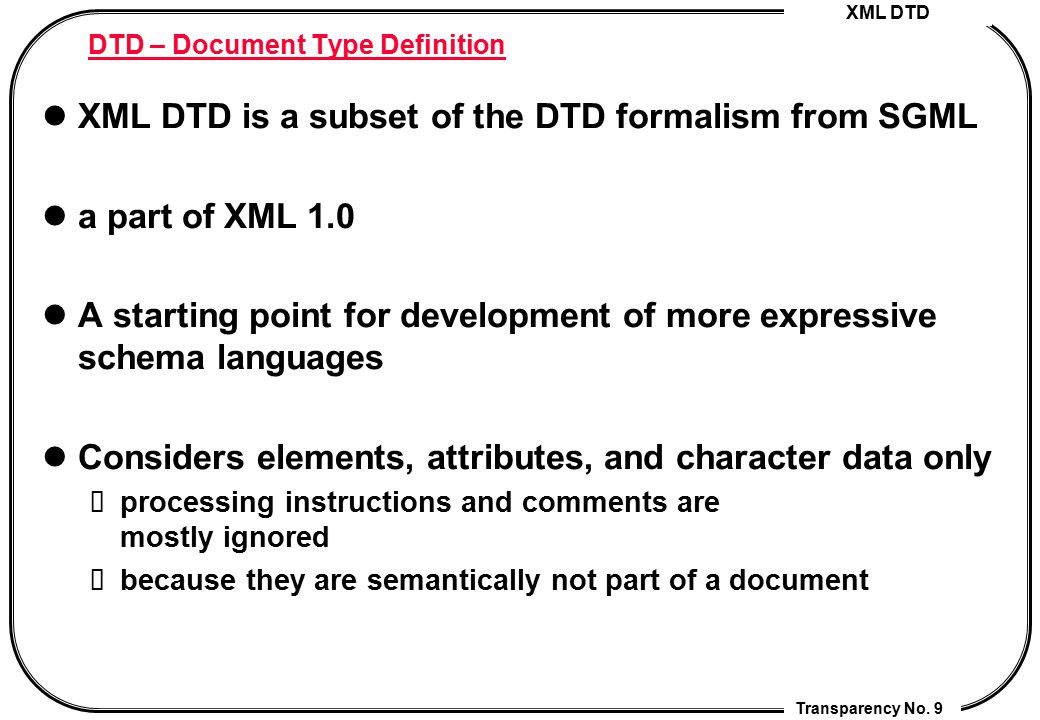 DTD – Document Type Definition