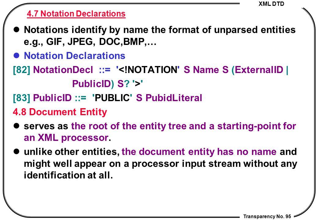 4.7 Notation Declarations