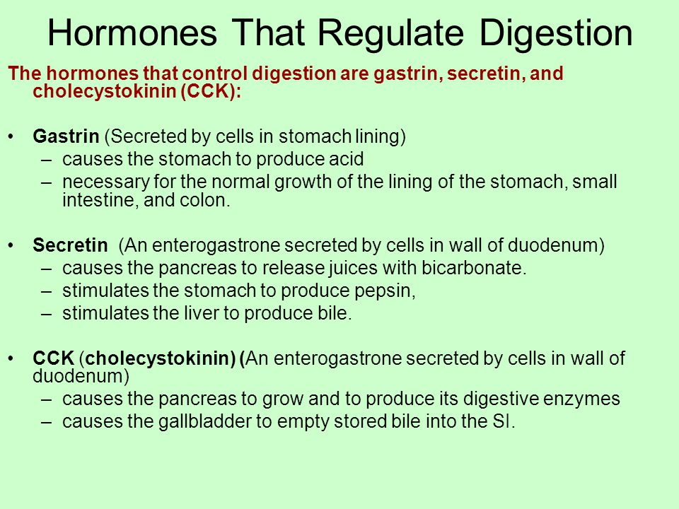 Hormones That Regulate Digestion