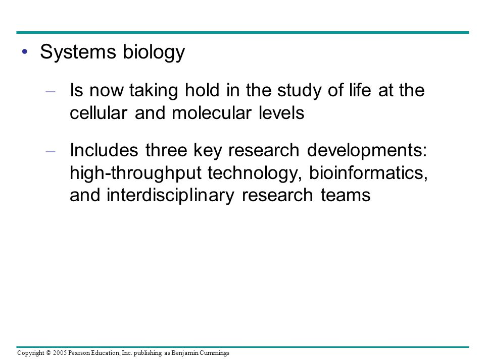 Systems biology Is now taking hold in the study of life at the cellular and molecular levels.
