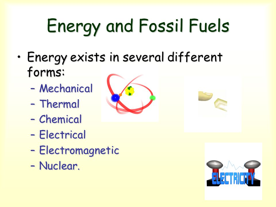Energy and Fossil Fuels