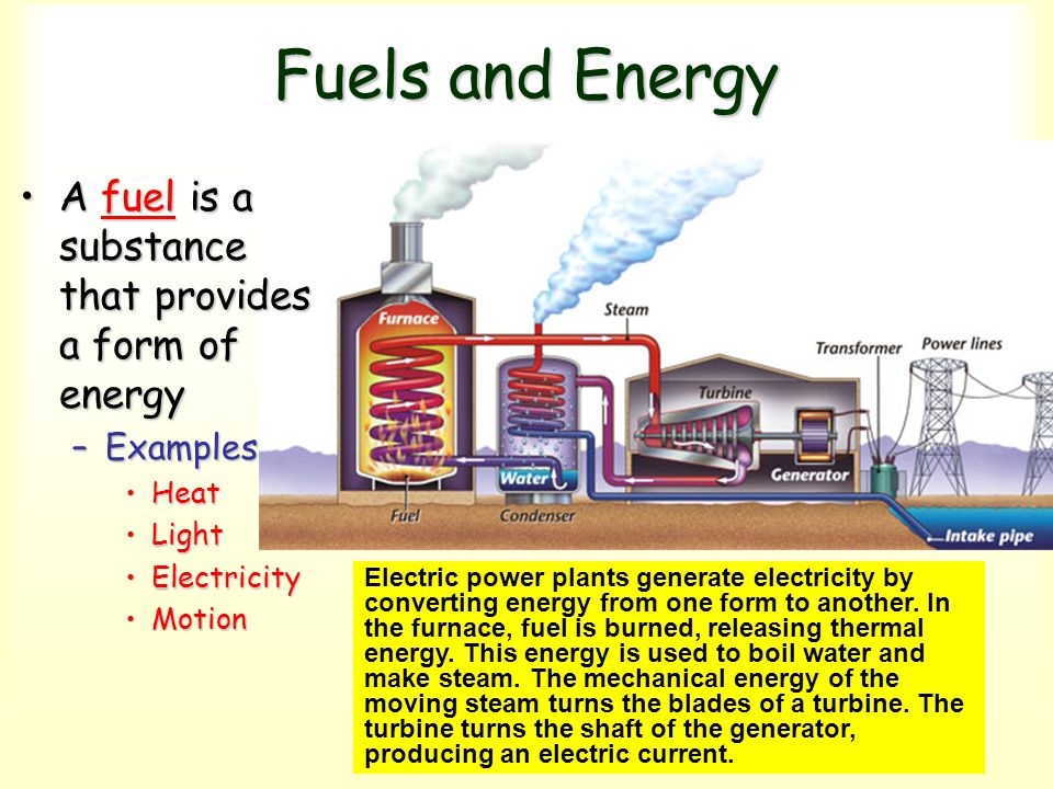 Fuels and Energy A fuel is a substance that provides a form of energy