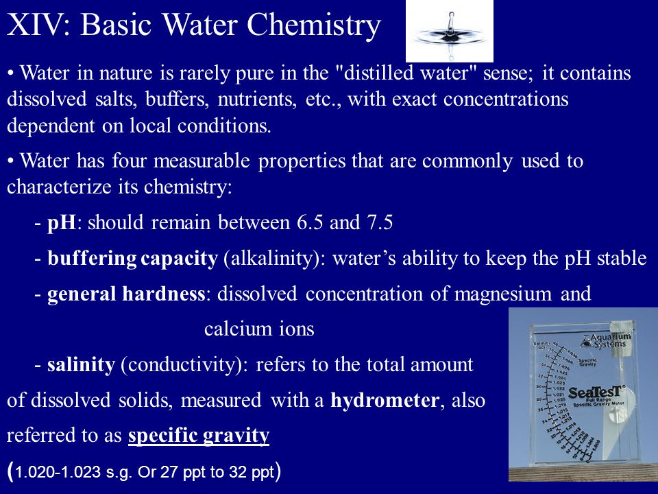 XIV: Basic Water Chemistry