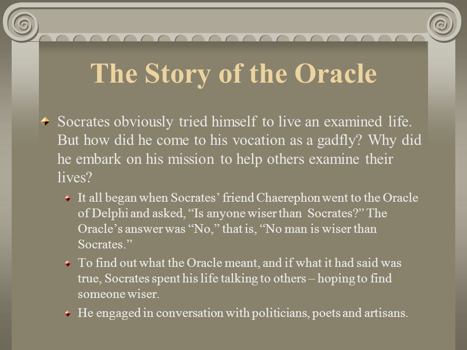 The Story of the Oracle