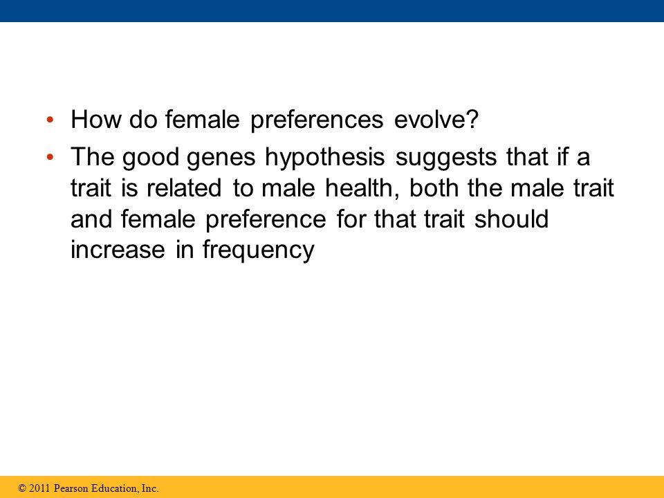 How do female preferences evolve