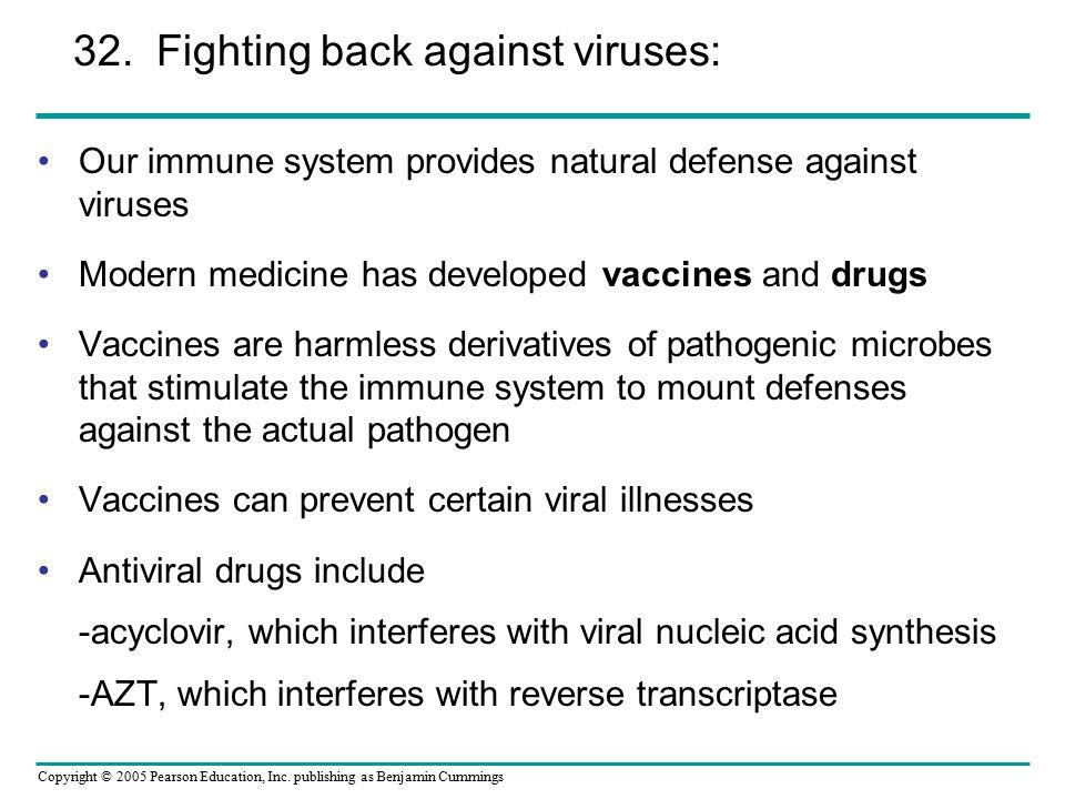 32. Fighting back against viruses: