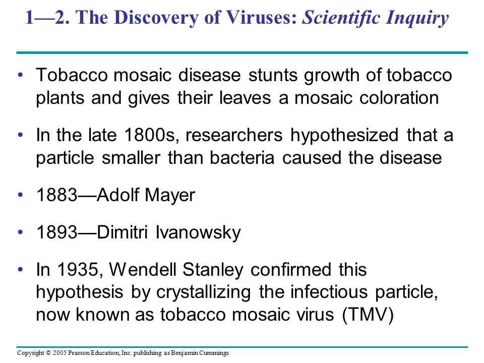1—2. The Discovery of Viruses: Scientific Inquiry