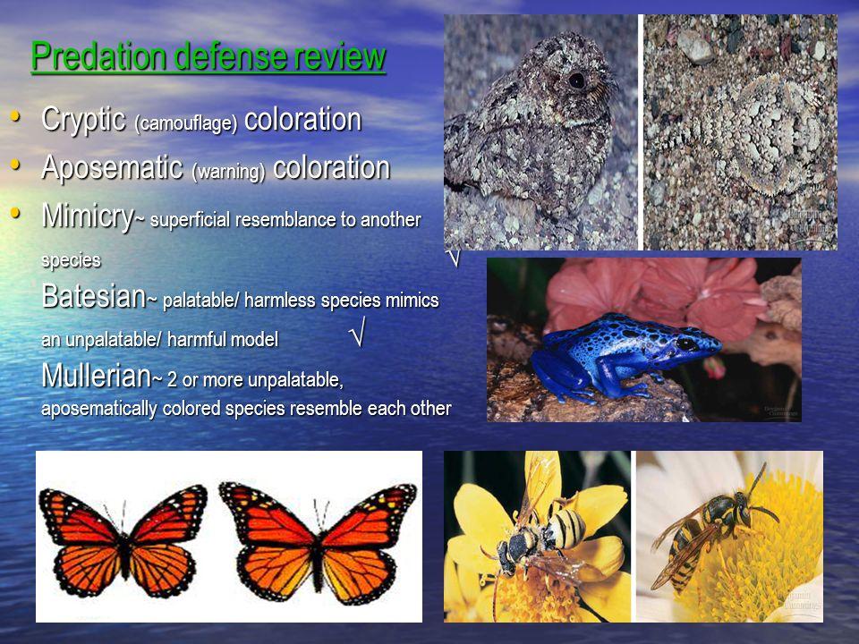 Predation defense review