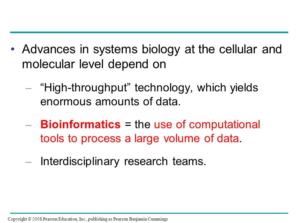 Advances in systems biology at the cellular and molecular level depend on