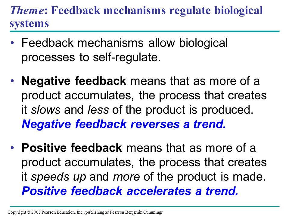 Theme: Feedback mechanisms regulate biological systems
