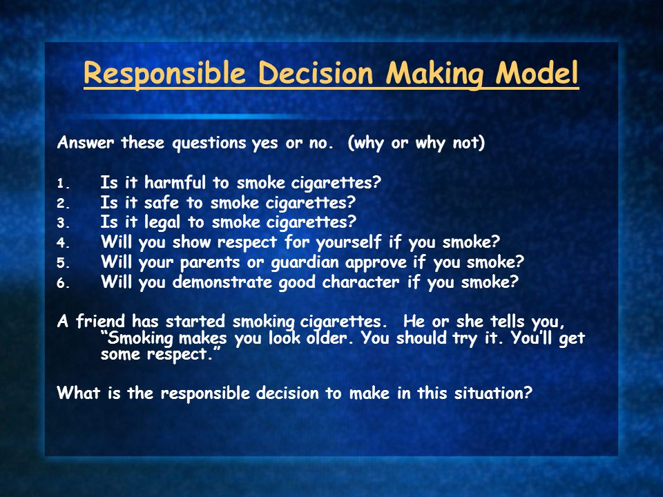 Responsible Decision Making Model