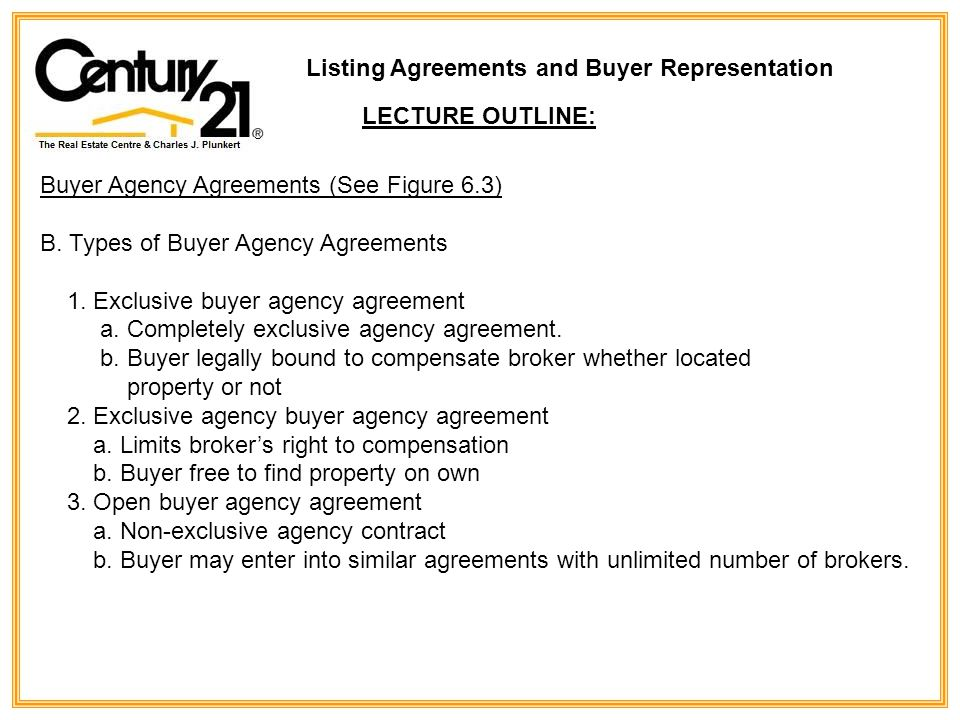 Listing agreements and buyer representation ppt download listing agreements and buyer representation platinumwayz