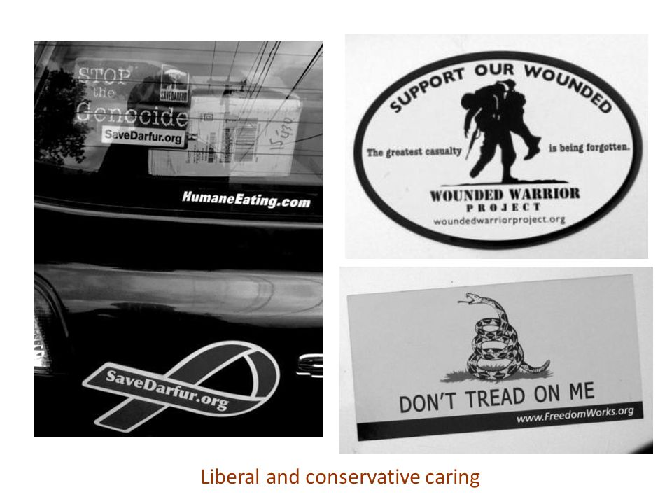 Liberal and conservative caring