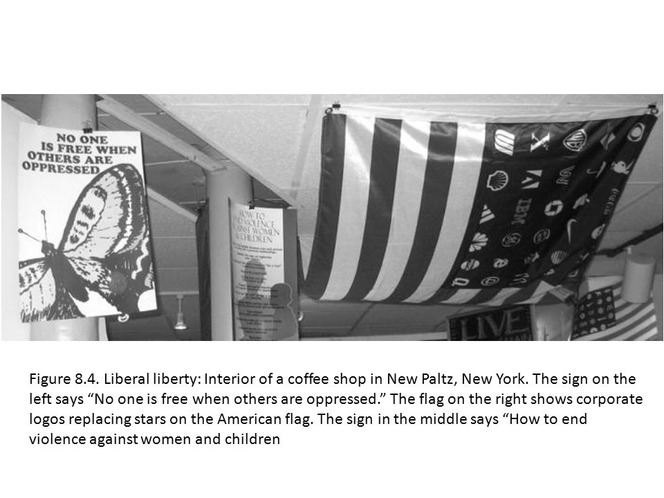 Figure 8.4. Liberal liberty: Interior of a coffee shop in New Paltz, New York.