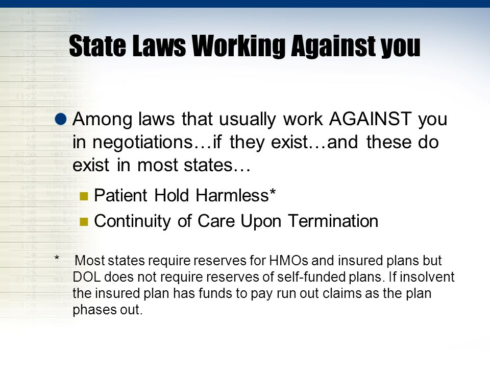 State Laws Working Against you