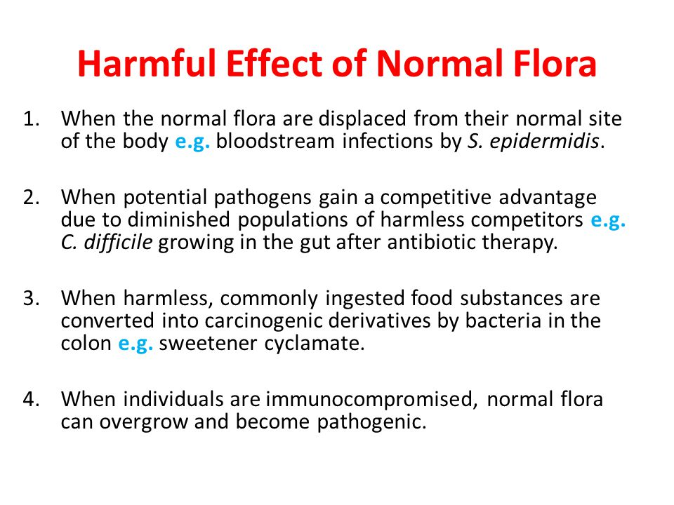 Harmful Effect of Normal Flora