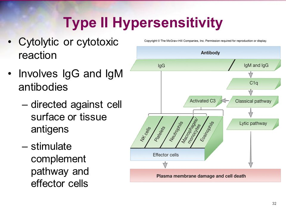 Type II Hypersensitivity