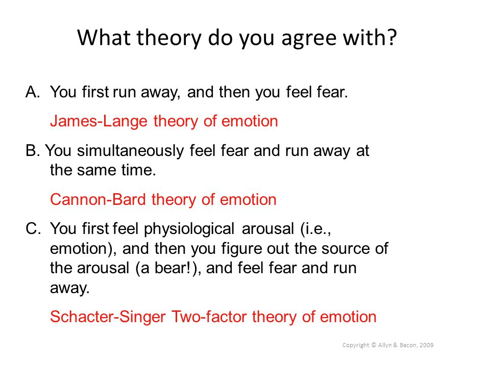 What theory do you agree with