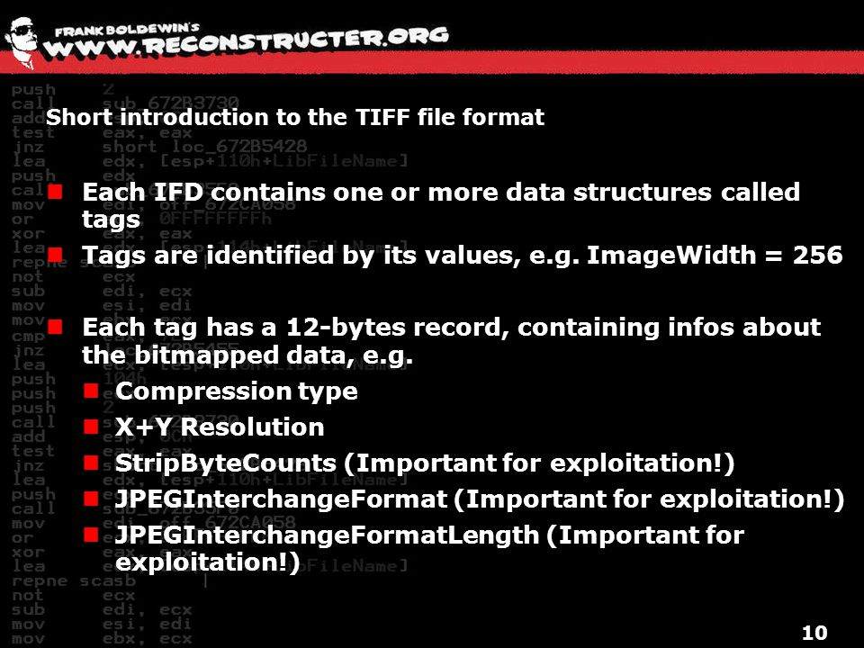 Short introduction to the TIFF file format