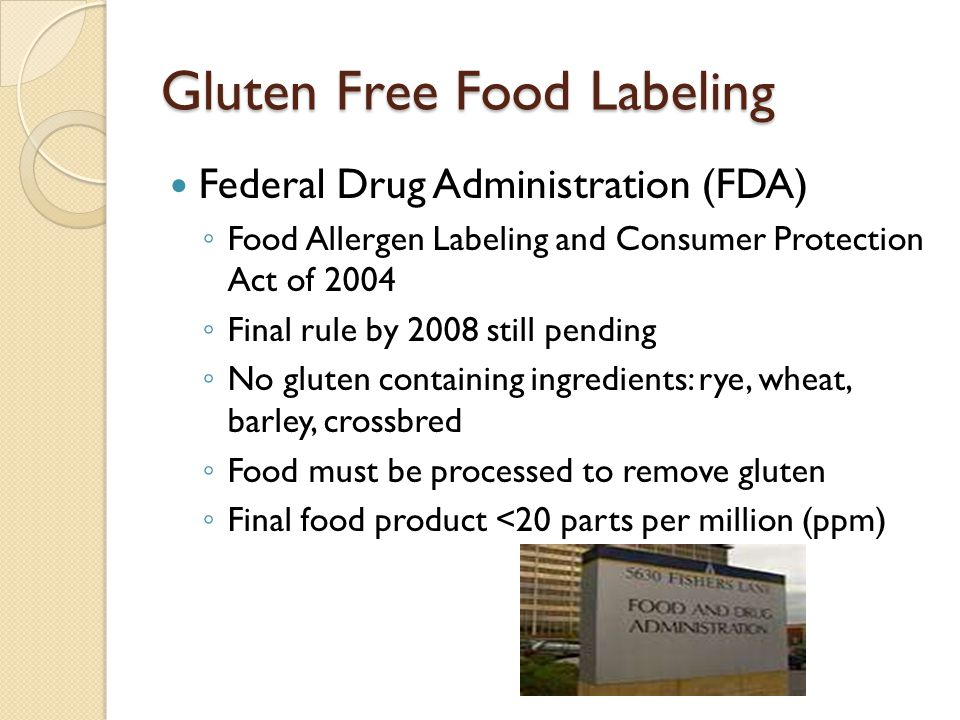 Gluten Free Food Labeling
