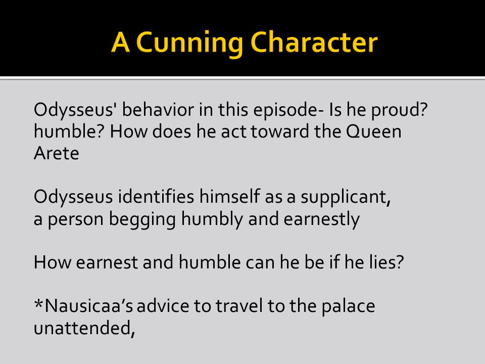 A Cunning Character