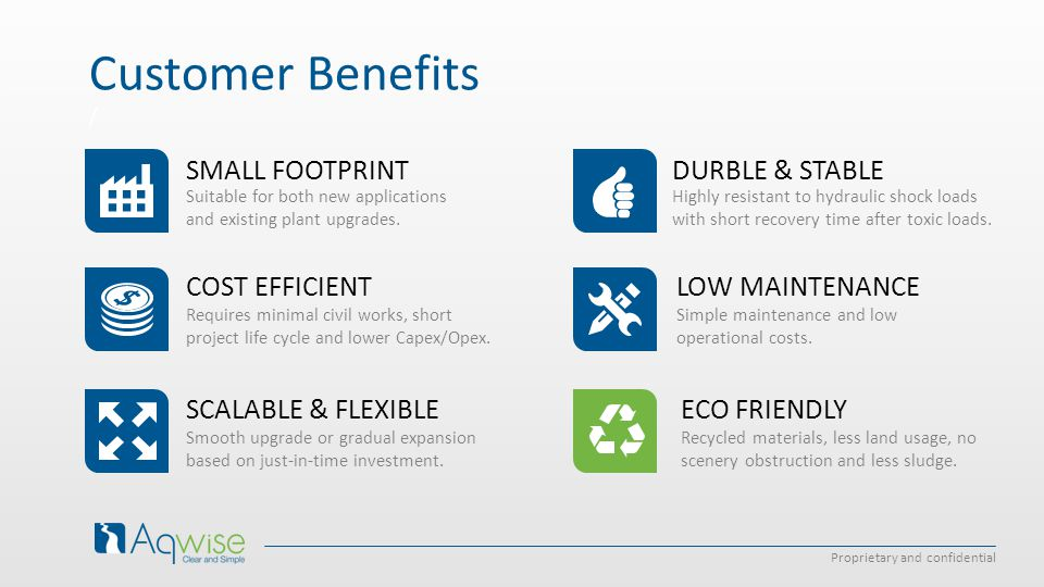 Customer Benefits SMALL FOOTPRINT COST EFFICIENT SCALABLE & FLEXIBLE