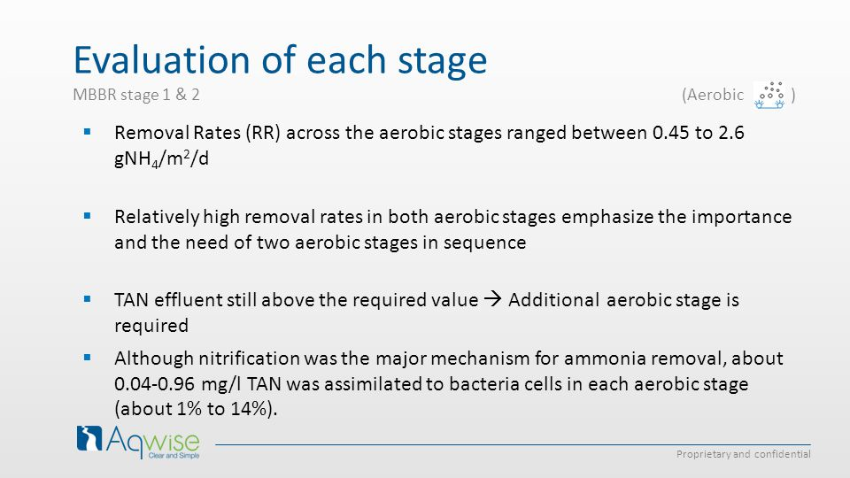 Evaluation of each stage