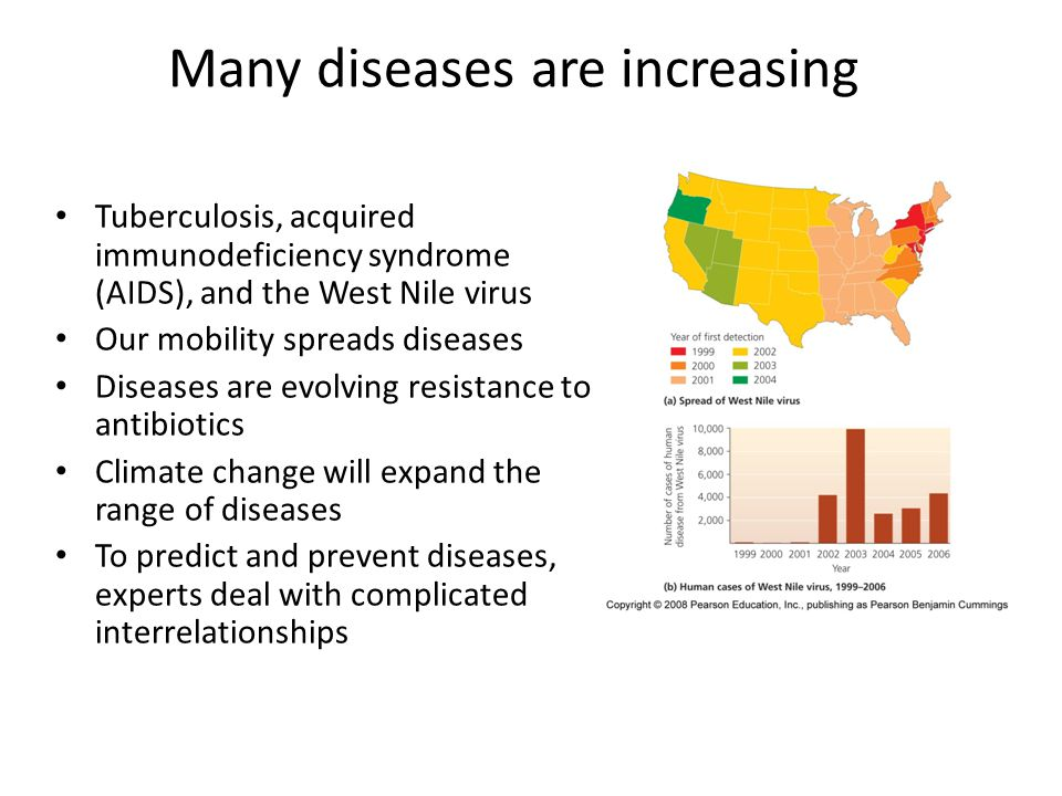 Many diseases are increasing