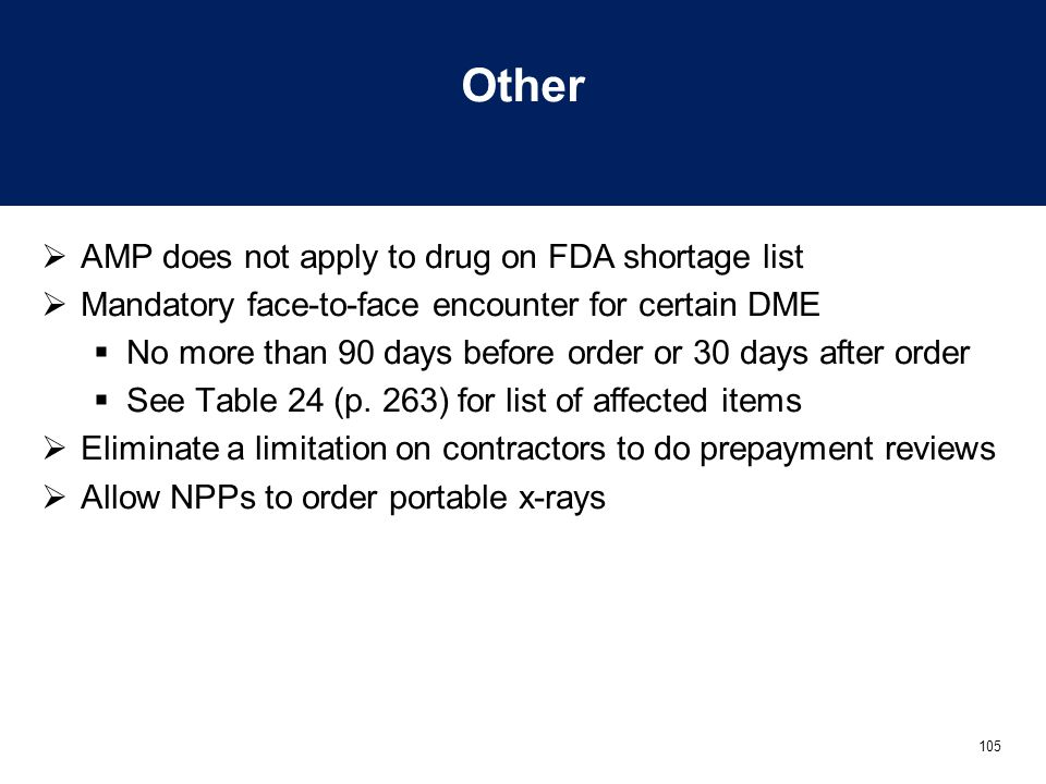 Other AMP does not apply to drug on FDA shortage list