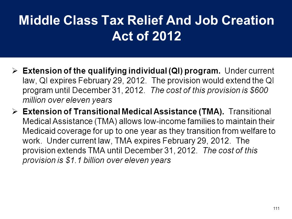Middle Class Tax Relief And Job Creation Act of 2012