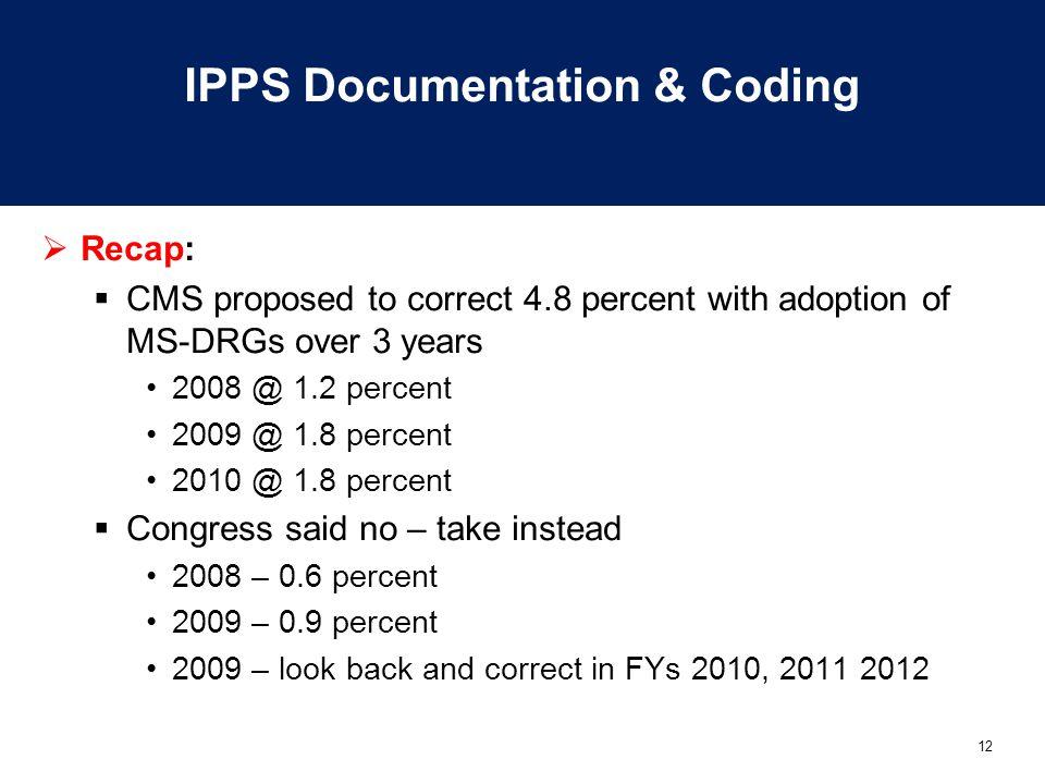 IPPS Documentation & Coding
