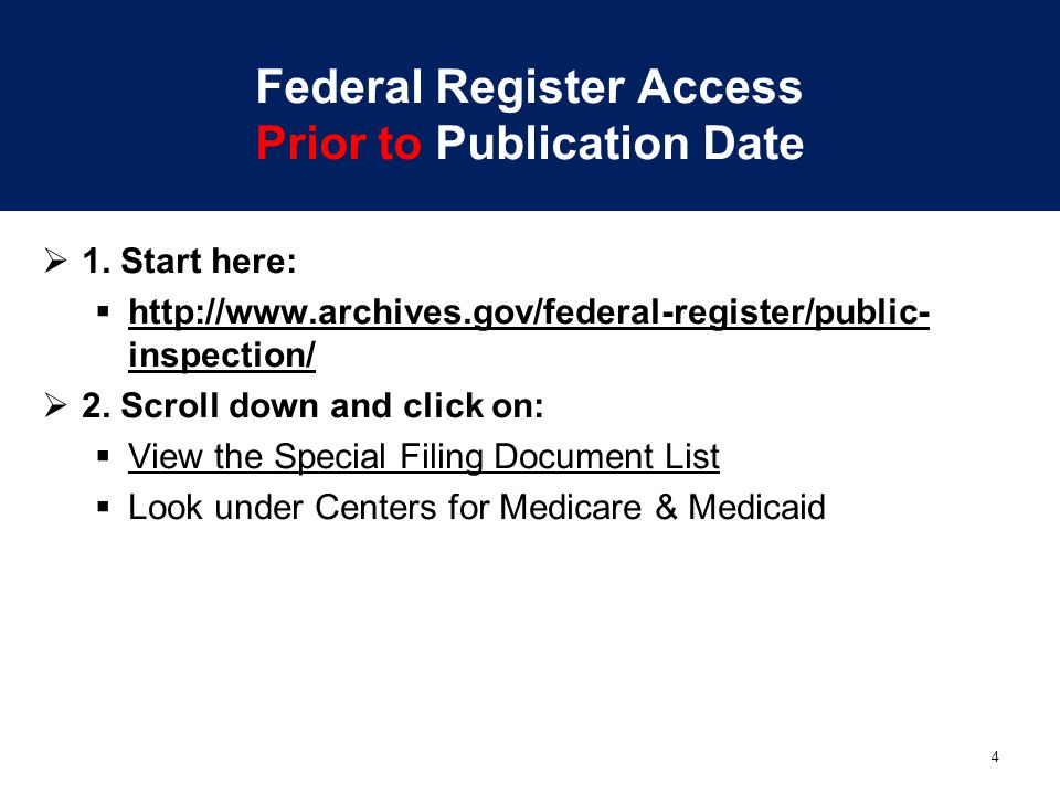 Federal Register Access Prior to Publication Date